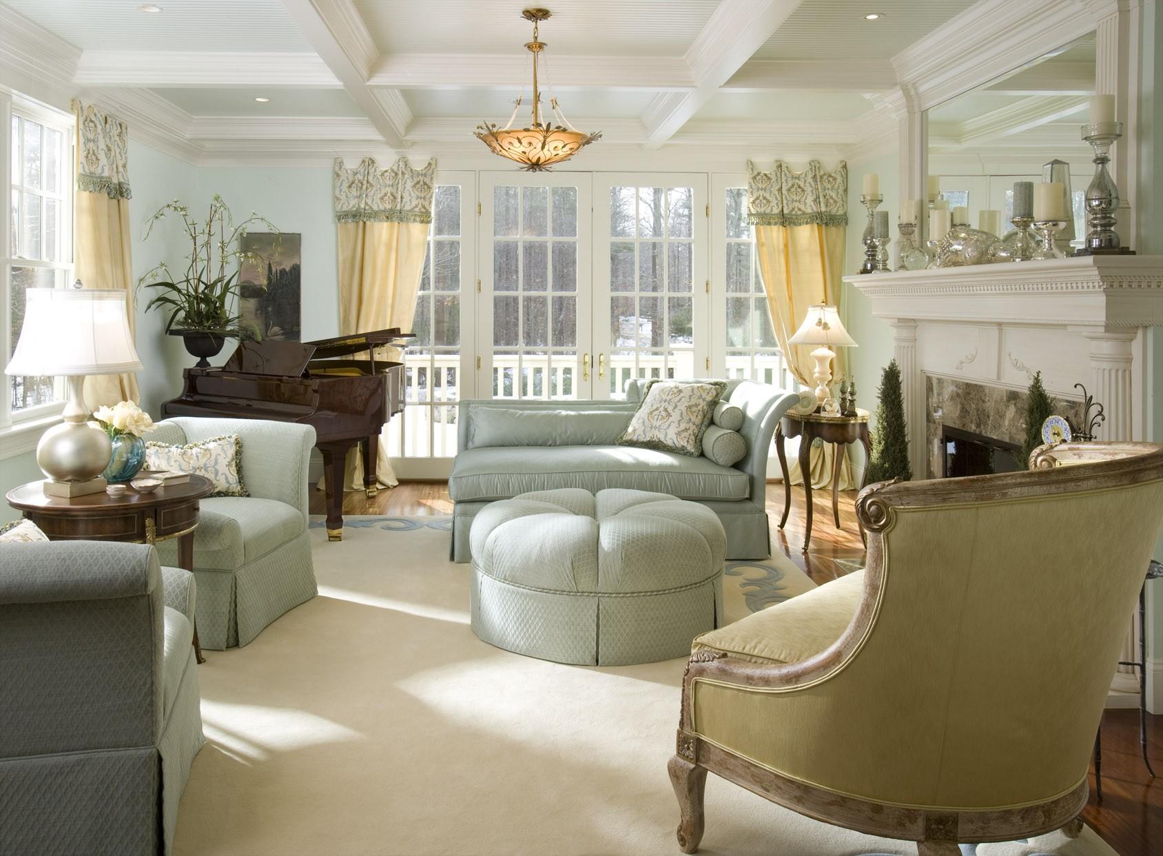 Luxury Ideas For Lavish Living Room Style: Oturma Odanızda Fransız Stili