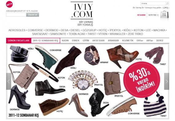 1V1Y.com, Alışverişkulüpleri'nde!