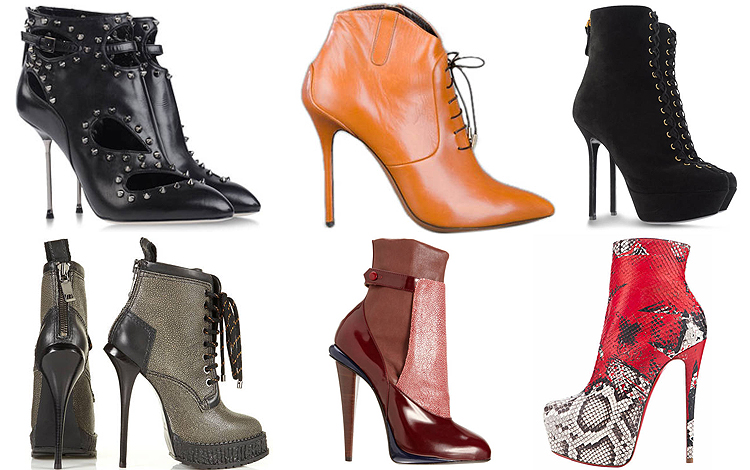 2012 kış ayakkabı trendi stiletto botlar